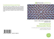 Bookcover of Constitutional Democratic Party