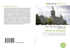 Обложка Miriam A. Ferguson