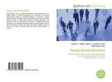Portada del libro de Hasty Generalization