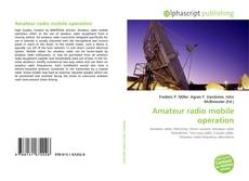 Bookcover of Amateur radio mobile operation