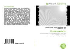 Capa do livro de Lincoln Aviator
