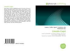 Copertina di Lincoln Capri