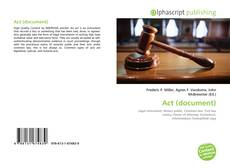 Portada del libro de Act (document)