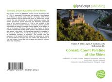 Buchcover von Conrad, Count Palatine of the Rhine