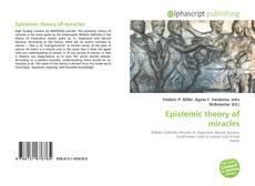 Capa do livro de Epistemic theory of miracles