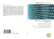 Bookcover of Here Document