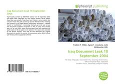 Bookcover of Iraq Document Leak 18 September 2004