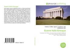 Bookcover of Guerre Italo-Grecque