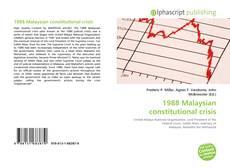 Borítókép a  1988 Malaysian constitutional crisis - hoz