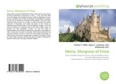 Buchcover von Henry, Margrave of Frisia