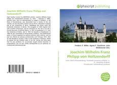 Joachim Wilhelm Franz Philipp von Holtzendorff kitap kapağı