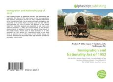 Portada del libro de Immigration and Nationality Act of 1952