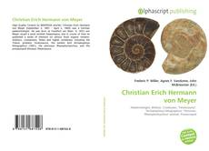 Bookcover of Christian Erich Hermann von Meyer