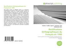 Portada del libro de Rectifications Orthographiques du Français en 1990
