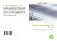 Buchcover von Chinese Immigration Act of 1885