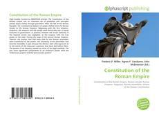 Bookcover of Constitution of the Roman Empire