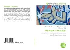Bookcover of Pokémon Characters