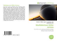 Обложка MacRobertson Miller Airlines