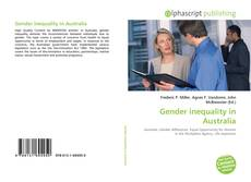 Bookcover of Gender inequality in Australia