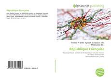 Bookcover of République Française
