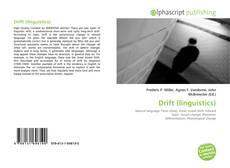 Bookcover of Drift (linguistics)