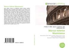 Bookcover of Marcus Valerius Maximianus