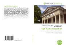 Bookcover of High Arctic relocation