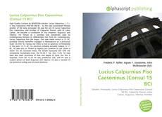Lucius Calpurnius Piso Caesoninus (Consul 15 BC) kitap kapağı