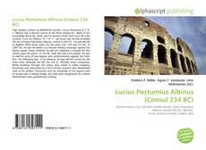 Borítókép a  Lucius Postumius Albinus (Consul 234 BC) - hoz