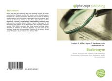 Bookcover of Backronym