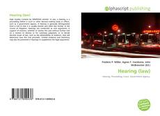 Bookcover of Hearing (law)