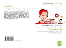 Bookcover of Control Order