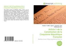 Bookcover of Article 2 de la Constitution de la Cinquième République Française