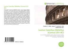 Borítókép a  Lucius Caecilius Metellus (Consul 251 BC) - hoz