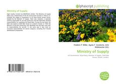 Bookcover of Ministry of Supply