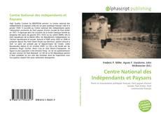 Centre National des Indépendants et Paysans的封面