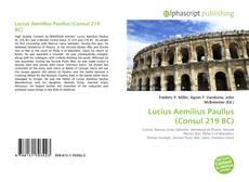 Borítókép a  Lucius Aemilius Paullus (Consul 219 BC) - hoz