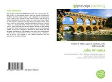 Couverture de Julia Antonia