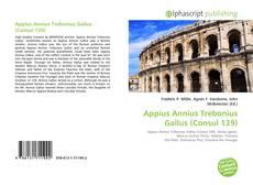 Portada del libro de Appius Annius Trebonius Gallus (Consul 139)