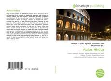 Aulus Hirtius kitap kapağı