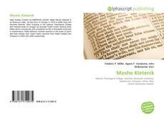 Moshe Kletenik kitap kapağı