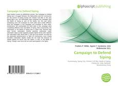 Bookcover of Campaign to Defend Siping