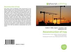 Bookcover of Reconstruction of Iraq