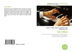 Bookcover of Geri Allen