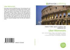 Bookcover of Liber Memorialis
