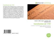 Portada del libro de Constitution de 1791