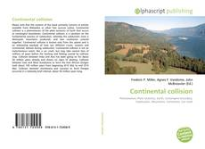 Bookcover of Continental collision