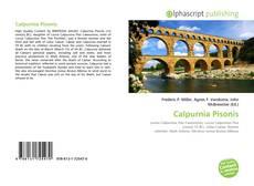 Calpurnia Pisonis kitap kapağı