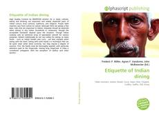 Bookcover of Etiquette of Indian dining