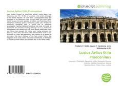 Bookcover of Lucius Aelius Stilo Praeconinus